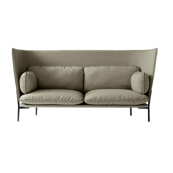 &tradition - Cloud High Back LN7 Sofa mit hohem Rücken - beige/Stoff kvadrat fiord 951/BxHxT 232x115x90cm/Füße schwarz