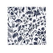 Artek - Niittykukka-Meadow Flo. Cloth Napkin Set of 2 - white/blue/46x46cm