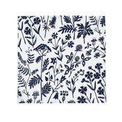 Artek - Niittykukka - Set de 2 servilletas de tela - blanco/azul/46x46cm