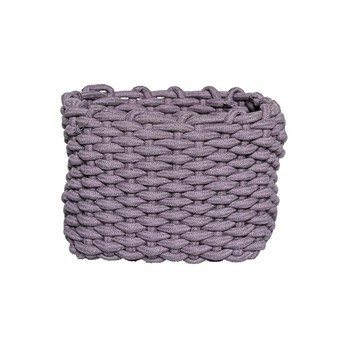 Bloomingville - Bloomingville Textile Aufbewahrungskorb - lila/LxBxH 27x21x20cm