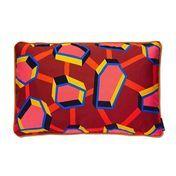 HAY - Printed Cushion Kissen Full - rot/mit Federfüllung/57x35cm
