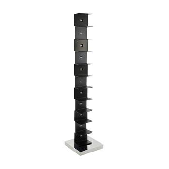 Opinion Ciatti - Ptolomeo Büchersäule 160 - schwarz/Fuß edelstahl poliert/160cm