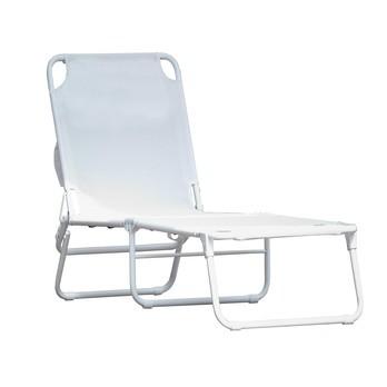 Jan Kurtz - Limited Edition Fiam Amigo Sonnenliege - weiß/Kunststoffgewebe/BxHxT 58x29x190cm/Gestell Aluminium pulverbeschichtet