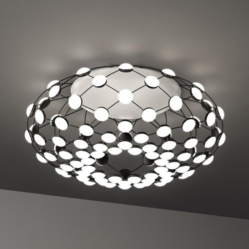 Luceplan - Mesh LED Deckenleuchte - schwarz/dimmbar/2700K/H 32cm/Ø 72cm