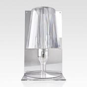 Kartell - Take Tischleuchte - glasklar/transparent/Schirm plissiert