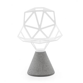 Magis - Chair One Drehstuhl mit Zementfuß - weiß/lackiert/Sitz: 5,2kg/Fuß: 34kg/für den Außenbereich geeignet