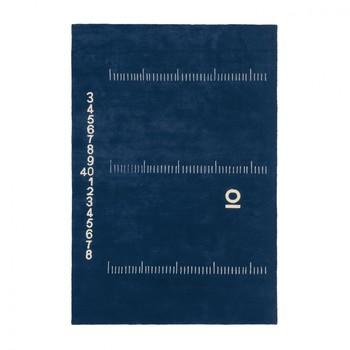 - Centimetre Wollteppich - dunkelblau/100% reine Wolle/300x200cm