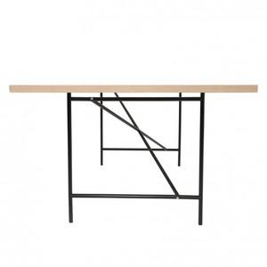 Richard Lampert - Eiermann 1 Tisch mittig - weiß/Eichenk./Gestell schwarz/inkl. Höhenversteller 3,5cm/180x90cm