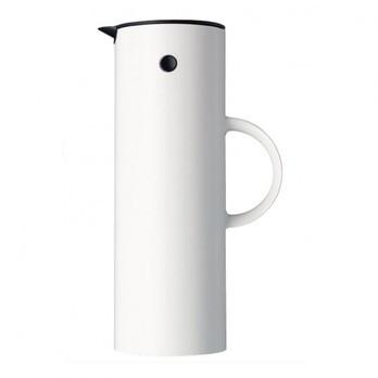 Stelton - Stelton EM77 Isolierkanne 1L - weiß/glänzend/H 31cm/Ø 10.5cm