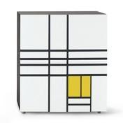 Cappellini - Homage to Mondrian Schränkchen - weiß/gelb/matt/99x116x40cm