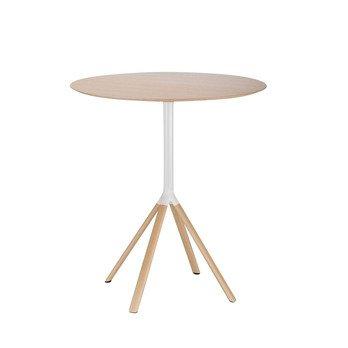 la palma - Fork P125 Bistrotisch H: 110 - eiche gebleicht/weiß/Holz / Eiche/H 110cm/ Ø 90cm
