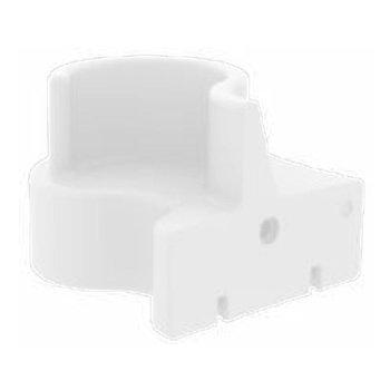 VerPan - Cloverleaf In/Outdoor Sofaelement links - weiß/UV-beständig/100% recyclebar/LxBxH 114.5x115.5x80cm