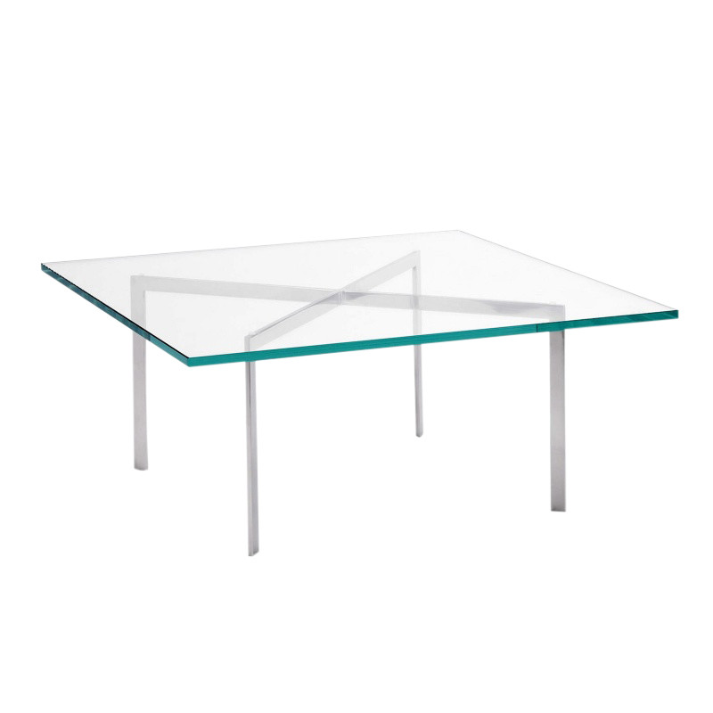 Beautiful Knoll International   Barcelona Mies Van Der Rohe Coffee Table   Crystal  Glass/frame Chrome