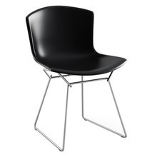 Knoll International - Chaise Bertoia Molded Shell Side Chair structure chrome