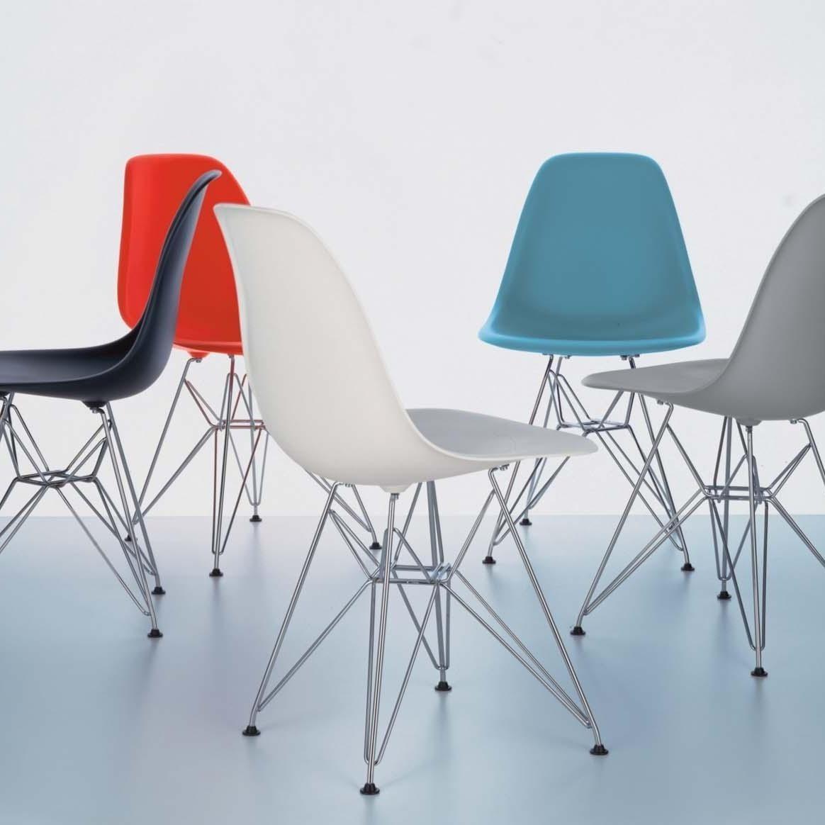 eames plastic side chair dsr h43cm vitra. Black Bedroom Furniture Sets. Home Design Ideas
