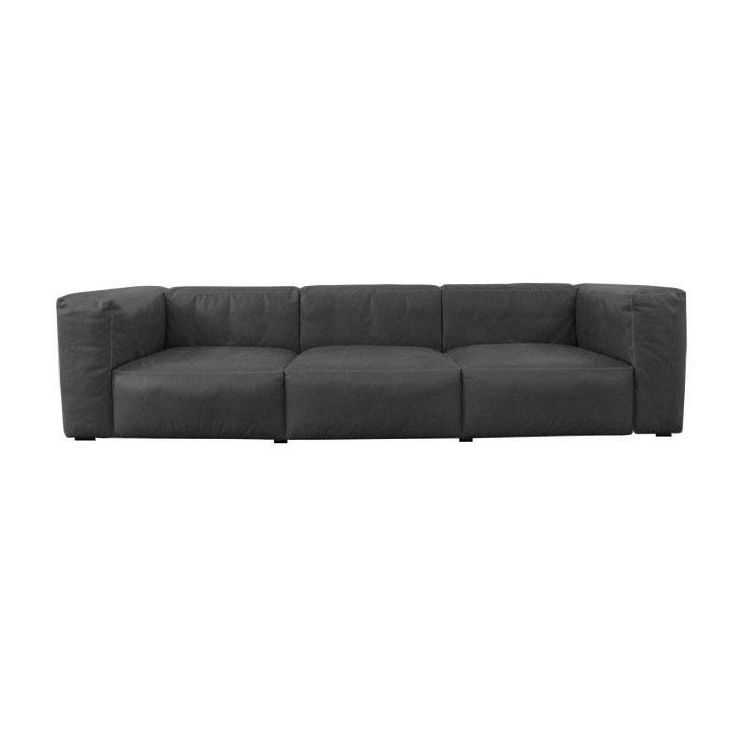 mags soft 3 seater leather sofa hay. Black Bedroom Furniture Sets. Home Design Ideas