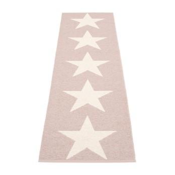 pappelina - Viggo One Teppich 250x70cm - hellrosa/vanille