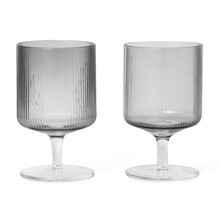 ferm LIVING - Ripple Weinglas 2er Set