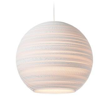 graypants - Moon 18 Pendelleuchte - weiß/H 40cm/Ø 45cm