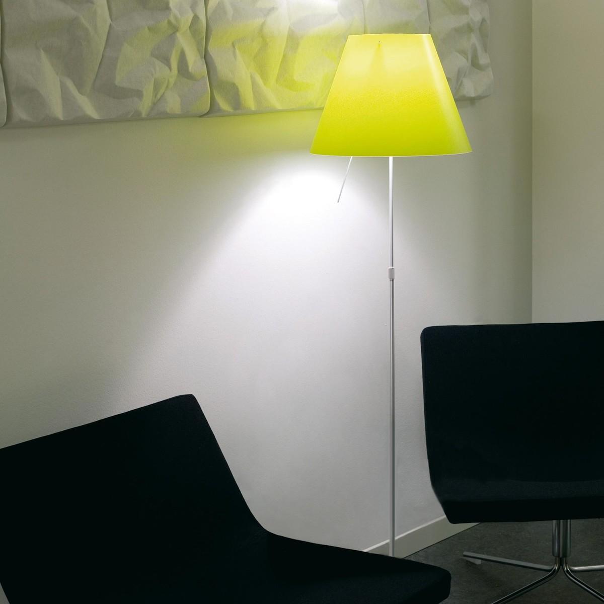 costanza terra floor lamp telescope on off luceplan. Black Bedroom Furniture Sets. Home Design Ideas