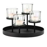 Blomus - Nero Kerzenleuchter/Teelichthalter