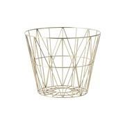 ferm LIVING - Wire Brass Drahtkorb medium