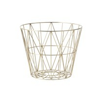 ferm LIVING - Wire Brass Drahtkorb