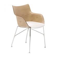Kartell - Q/Wood Armlehnstuhl 55x84x57cm