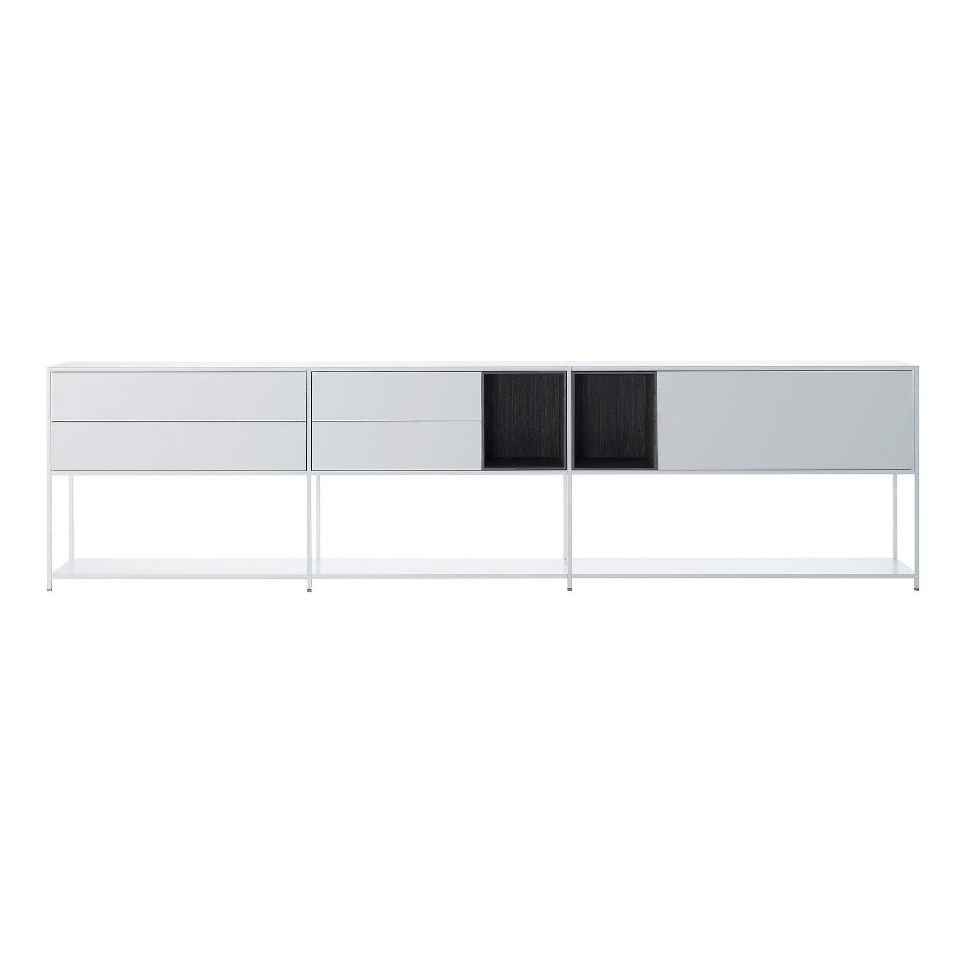 mdf italia minima 3 0 sideboard 306x33x79cm ambientedirect. Black Bedroom Furniture Sets. Home Design Ideas