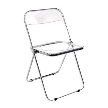 Castelli   Plia Folding Chair   Transparent/frame ...