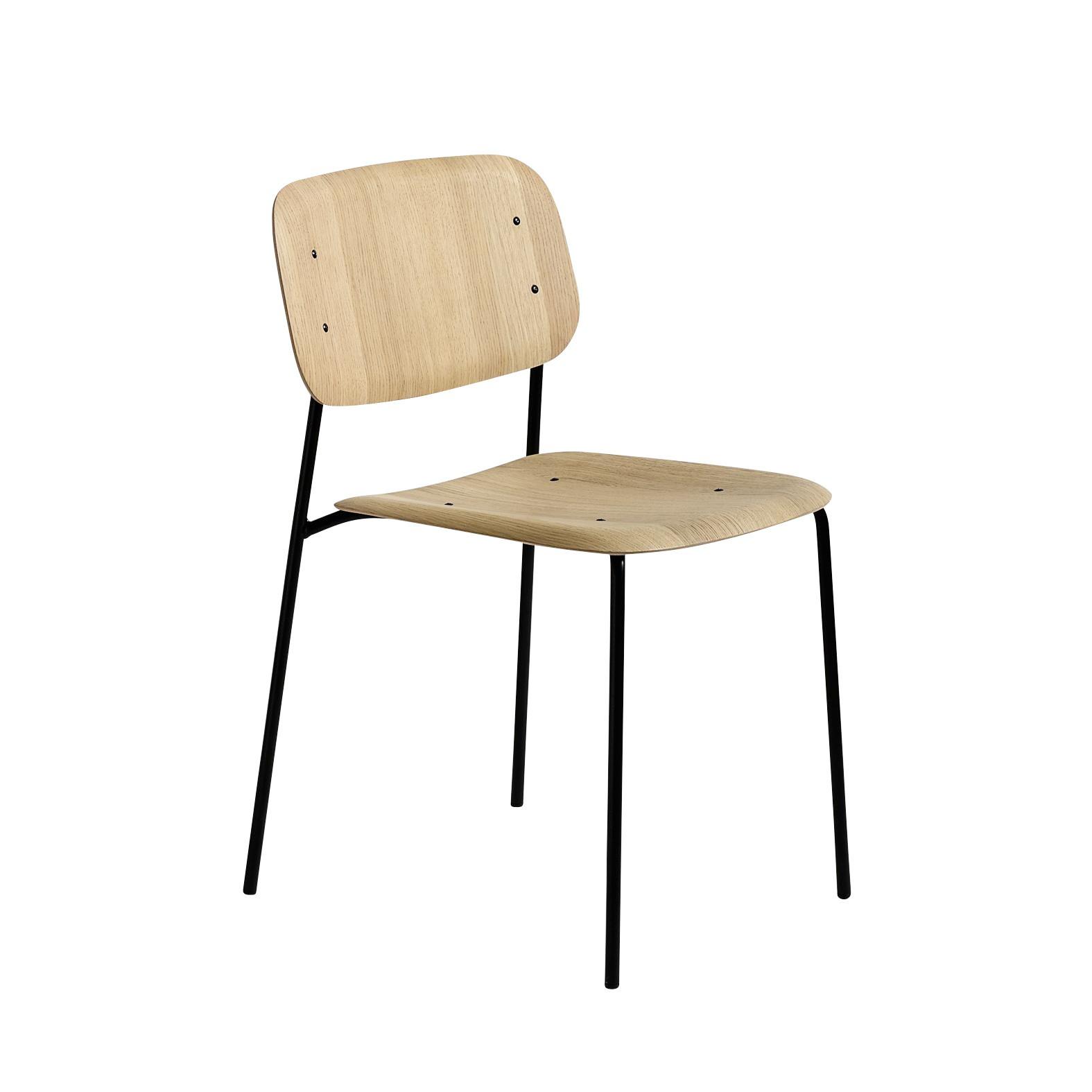 Soft Edge Stuhl Gestell Stahl schwarz