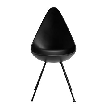 Fritz Hansen - Drop Chair - black/frame black powder coated/45.5x88.5x54.5cm