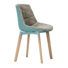 MDF Italia - Flow Cross Chair Oak Base Upholstered