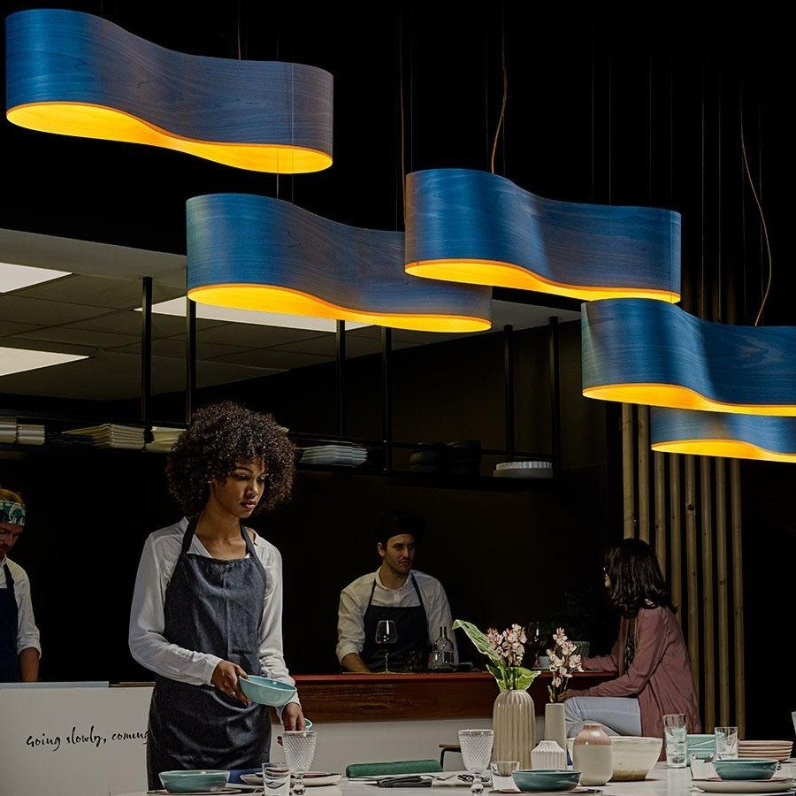 lzf lamps new wave led suspension lamp ambientedirect
