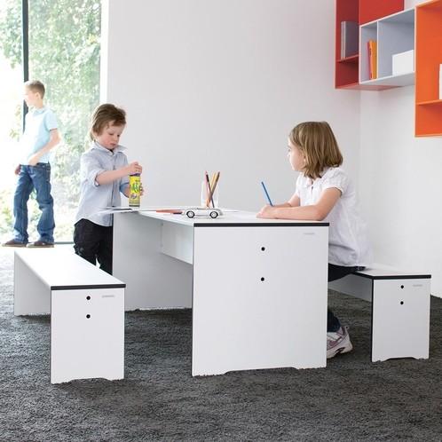 Conmoto - Riva Kindertisch + Bank Set