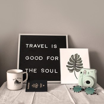 Travel is good for the soul mood