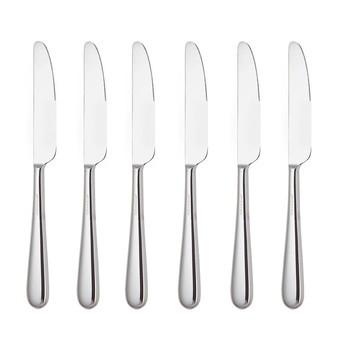Alessi - Nuovo Milano Dessertmesser Set 6tlg. - edelstahl/glänzend poliert/L 19cm