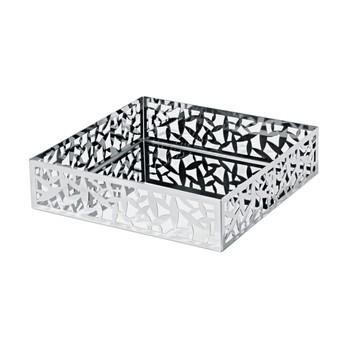 Alessi - Cactus Serviettenbehälter - edelstahl/glänzend poliert/LxBxH 20,5x20,5x5cm
