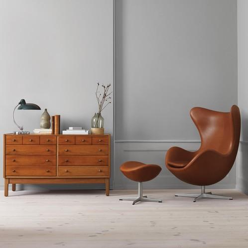 Fritz Hansen Egg Chair Loungechair Leather Ambientedirect