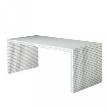 Zanotta - Quaderna Arbeitstisch - blanc quadrillé/châssis de contreplaqué/LxPxH 180x81x72cm