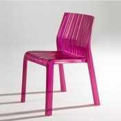 Kartell - Frilly Stuhl - fuchsia/transparent