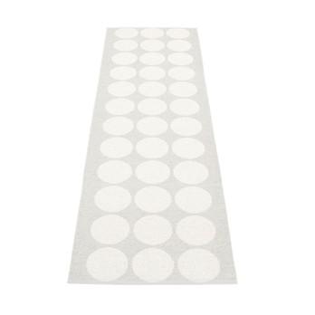 pappelina - Hugo Teppich 70x240cm - metallic weiß/kalk