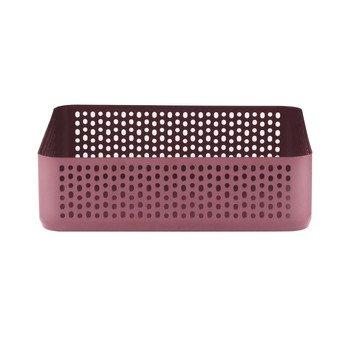 Normann Copenhagen - Nic Nac Organizer Aufbewahrungsbox H 6cm - dunkelrot/pulverbeschichtet/LxBxH 22,5x22,5x6cm