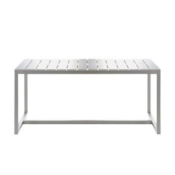 Gandia Blasco - Saler Esstisch - weiß/Gestell anodisiertes Alu/matt/Größe 4/195x91cm