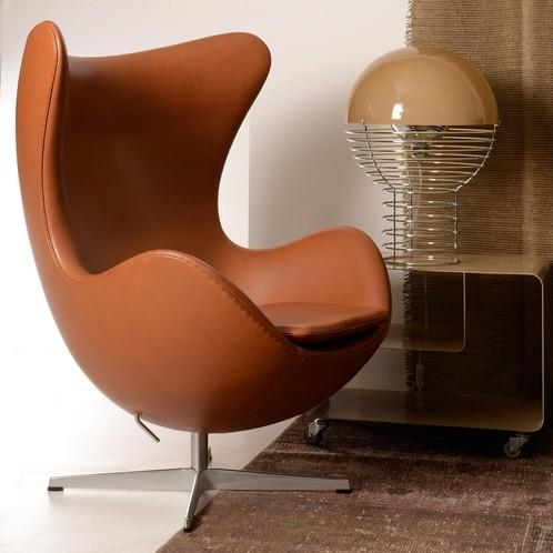 Fritz Hansen - Egg Chair/Das Ei Loungesessel Leder