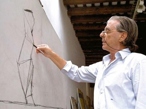 Künstler beim Zeichnen
