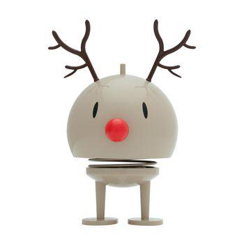 - Hoptimist Reindeer Bumble Rudolf Wackelfigur - braun/glänzend/H19cm/Ø10cm/mit Federmechanismus