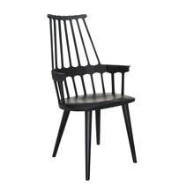 Kartell - Chaise avec accoudoirs Comback structure hêtre