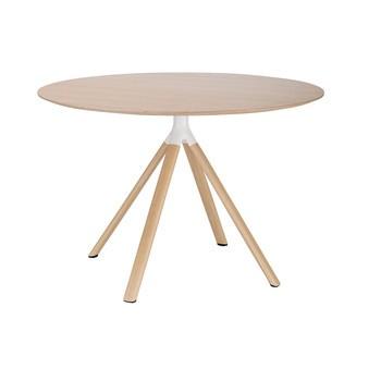 la palma - Fork P124 Beistelltisch H: 74cm - eiche gebleicht/Tischplatte Eiche gebleicht/H 74cm/ Ø 90cm/Gestell aluminium holzbeschichtet