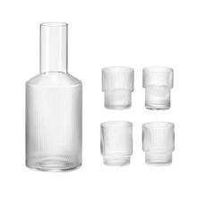 ferm LIVING - Ripple Water Glass Set Of 4 With Caraffe